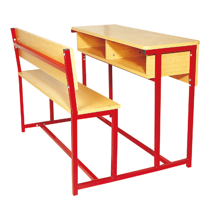 Wooden classroom bench