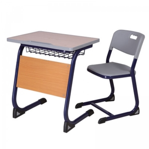 school desk with front panel