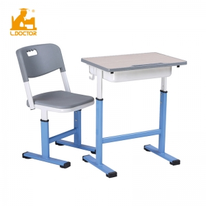 Height adjustable school desk