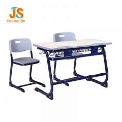 MDF double school desk and chair