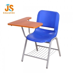 school chair with writing pad