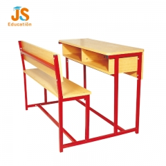 school desk with bench
