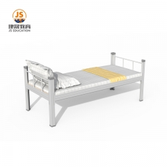 single metal hospital bed